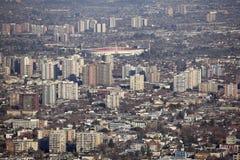 Santiago ` s de stad in Stock Fotografie