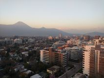 Santiago Skyline Arkivfoto