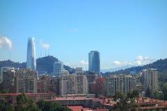 Santiago Skyline Royaltyfria Bilder