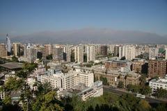 Santiago-Skyline Lizenzfreies Stockbild