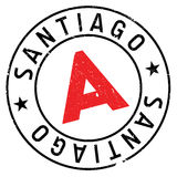 Santiago stamp rubber grunge Royalty Free Stock Photo