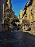Santiago-Straße lizenzfreie stockbilder