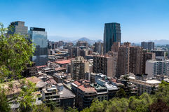 Santiago view. Royalty Free Stock Photo