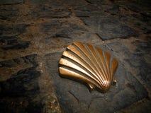 Santiago-Weg Pilmgrim Shell Stockfotos