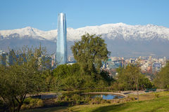 Santiago in Winter Royalty Free Stock Image