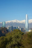 Santiago in Winter Royalty Free Stock Photo