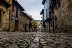 Santiana del Mar. Photograph of medieval village Santillana del Mar in Cantábria, Spain stock image