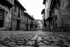Santiana del Mar. Photograph of medieval village Santillana del Mar in Cantábria, Spain royalty free stock photos