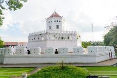 Santichai Prakan公园地标的Phra舒门堡垒 免版税库存图片