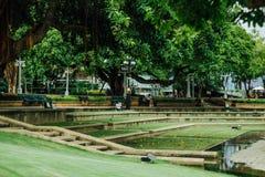 Santichai Prakarn park, Phra Athit droga, Bangkok, Tajlandia zdjęcie stock