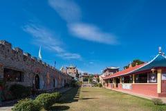 Santichon村庄,一个小中国人云南村庄 库存图片