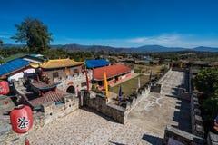 Santichon村庄,一个小中国人云南村庄 免版税图库摄影