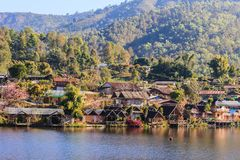 Santichon or Thai Yunnan Chinese Cultural Village where Yunnan tribesmen have moved to live. This village is one of the most popular attractions of Pai, Mae Stock Image