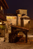 Santillana del Mar at night Stock Images