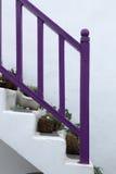 Santirini-Treppe stockbilder