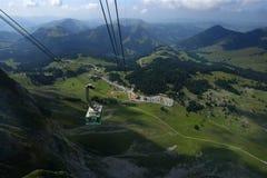 Santis in der Schweiz Stockbild