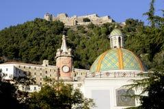 Santissima Annunziata church and castle in Salerno royalty free stock image