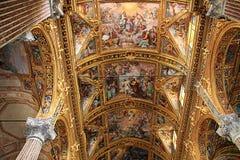 Santissima Annunziata del Vastato church, Genoa, Italy interiors Royalty Free Stock Photo
