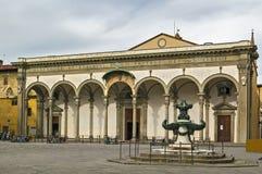 Santissima Annunziata, Florença imagem de stock