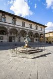 Santissima Annunziata square, Florence, Italy. Santissima Annunziata square in Florence, Tuscany, Italy Royalty Free Stock Photography