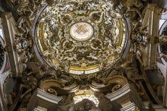 Santissima Annuziata kyrka, Florence, Italien Arkivfoton