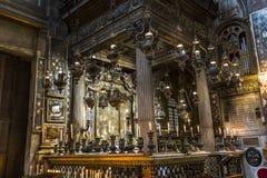 Santissima Annuziata kyrka, Florence, Italien Arkivbilder