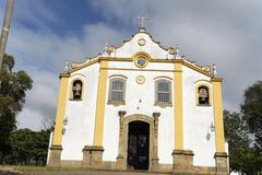 Santissima Trindade Church Facade Tiradentes Royalty Free Stock Photos