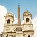 Santissima Trinita dei Monti church in Rome Stock Image