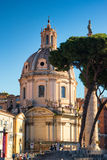 Santissimo Nome di Maria al Foro Traiano church in Rome, Italy royalty free stock photo
