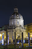 Santissimo Nome di Maria al Foro Traiano at night - Rome Royalty Free Stock Photos