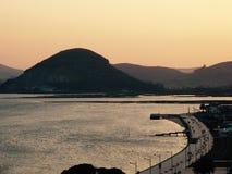 Santoña, un paesaggio fotografie stock