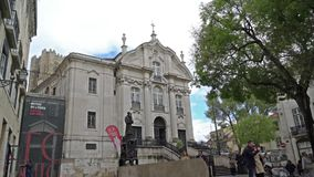 Santo安东尼奥教会在里斯本 影视素材