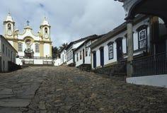 Santo安东尼奥教会在Tiradentes,米纳斯吉拉斯州,巴西 免版税库存图片