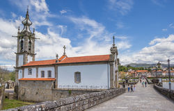 Santo安东尼奥da Torre Velha教会在Ponte de利马 免版税库存图片