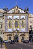 Santo安东尼奥dos Congregados教会在Almeida Garrett广场 免版税库存照片
