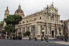 Santo Agatha Cathedral de Catania/del Duomo Sant 'Agata imagenes de archivo