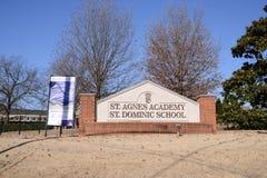 Santo Agnes Academy School, Memphis, TN Fotografía de archivo libre de regalías
