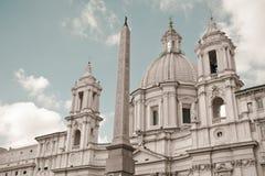 Santo Agnese en Agone en la plaza Navona, Roma Imagen de archivo libre de regalías