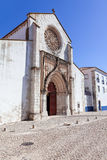Santo Agostinho da Graca church, showing the largest Rose Window carved of a single slab of stone in Portugal. Royalty Free Stock Photo