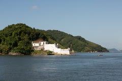 Santo Amaro Fortress Guaruja - le Brésil Images libres de droits