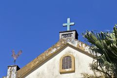 Detail of old church of the small village Paranapiacaba Stock Photo