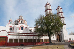 Santo angel Custodio church, Puebla (Mexico) Royalty Free Stock Photo