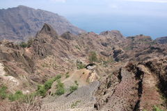 Santo Antao, Cabo Verde Island. Santo Antao offers spectacular trekking opportunities Royalty Free Stock Images