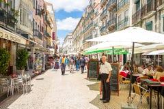 Santo Antao street Lisbon Royalty Free Stock Image