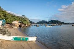 Santo Antonio de Lisboa Beach - Florianopolis, Santa Catarina, Brasile immagine stock