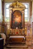 Santo Antonio de Lisboa Church Altare på sakristian royaltyfri fotografi