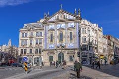 Santo Antonio dos Congregados Church in Almeida Garrett Square Royalty Free Stock Photo