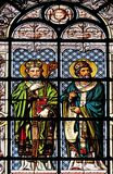 Santo Athanasius y santo Cyril fotografía de archivo