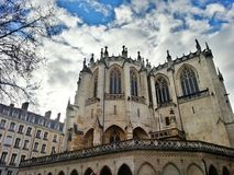 Santo católico Nizier, ciudad vieja de Lyon, Francia de Egils Paroisse Fotos de archivo