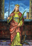 Santo Catherine de Alexandría Foto de archivo libre de regalías